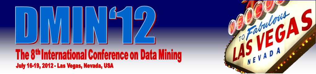 DMIN 2012 - The International Conference on Data Mining